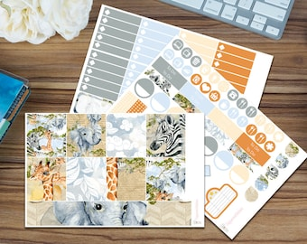 Safari Weekend Horizontal Weekly Kit [95 x Matte] Perfect for your Erin Condren!
