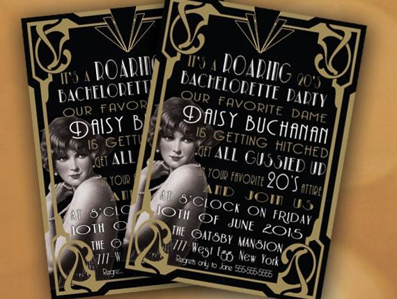 Roaring 20s Invitation Bachelorette Party Invitation