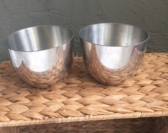 Pair of Vintage Pewter Jefferson Cups // 1950s Vintage Pewter Cups // Heirloom Vintage Cups