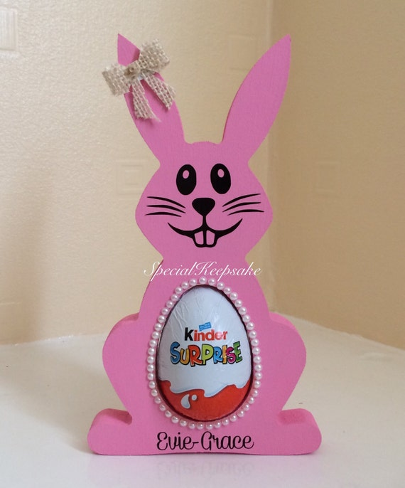 Personalised Easter Bunny Kinder Surprise Egg Holder