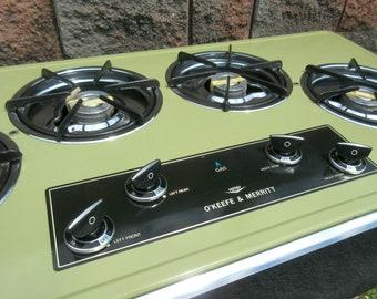 Vintage NOS Mid Century Retro Okeefe Merritt Counter Top Gas Kitchen Stove
