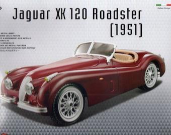 Jaguar XK120 Roadster Die Cast Metal MODEL CAR KIT, Scale 1:24,