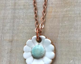 Flower Necklace-Porcelain Jewelry-Kim OHara Designs-Ceramic Jewelry