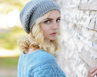 Crochet Slouchy Hat for Women / Slouchy Beanie Hat / Women's Slouch Hat / Chunky Winter Hat / Fall Fashion / Boho Fashion / Fashion Trend