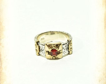 Medieval Uther ring - medieval wedding Sterling silver 925