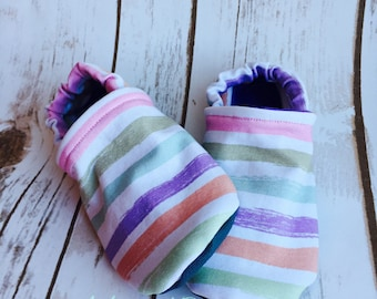 Canadian custom made Infant/toddler non-slip slippers