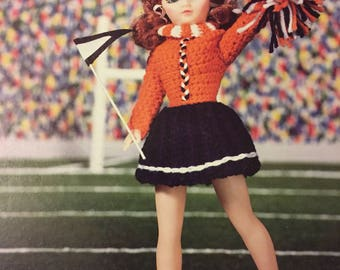 "Cheerleader Outfit Crochet  Pattern for 15"" Fashion Doll"