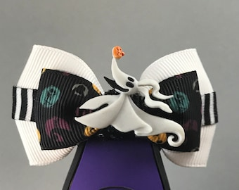 """Zero Magic Band  Bow or Apple Watch Bow, 2"""" Mini Hair Bow, Planner Bow - Nightmare Before Christmas Collection"""