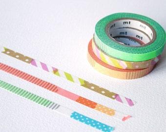 bandes de washi slim MT - Brights (E) - fine washi tape set - mt masking tape