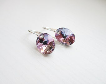 Moody Earrings - Sterling Silver and Vitrial Swarovski Crystal