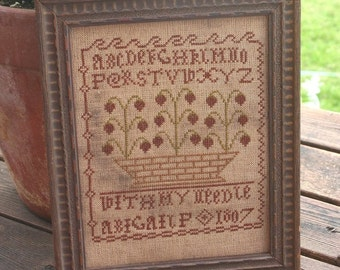 With My Needle : Cross Stitch Pattern by Heartstring Samplery