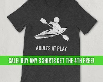 Kayaking Shirt Adults at Play, Paddle Sport, Lake, River, Ocean, Water Sport,