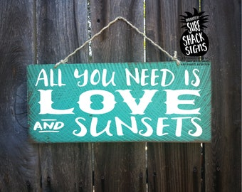 sunset, love and a sunset, sunset art, sunset decor, sunset wall art, sunset sign, sunset decoration, 332