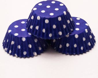 48 Blue Polka Dot Muffin Cupcake Liners Cups Baking Supplies Jenuine Crafts