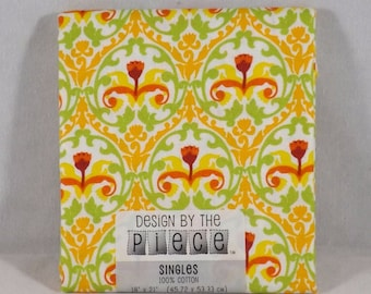 Orange / White Fat Quarter - #133 - Design by the Piece