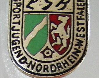 GERMANY SPORT BADGE Vintage Youth Sports North Rhine enamel badge pin