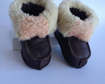 Baby shoes custom order, baby leather shoes, sheepskin fur, natural leather, best friend baby gift, custom baby shoes, winter baby shoes