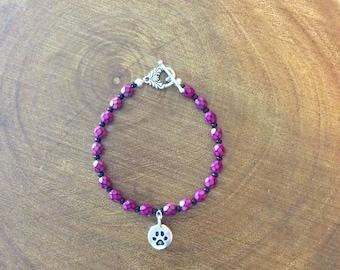 Paw bracelet for animal lovers