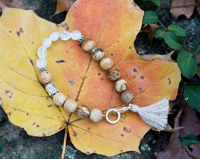Jasper Buddha bracelet