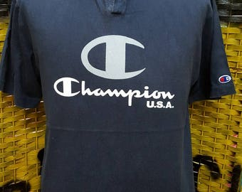 Vintage CHAMPION / big logo / hip hop skate style / Large size tshirt