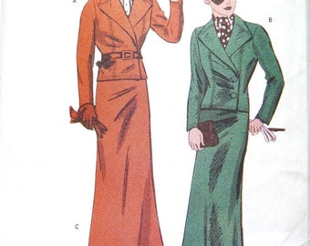 Butterick Retro 1930s womens business suit reissued pattern uncut and factory folded Out of Print