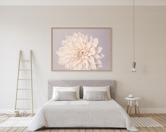 Bedroom Wall Decor, Living Room Decor, Neutral Wall Art, Floral Art Print, Bedroom Wall Art, Large Wall Art Print, Flower Photography Print
