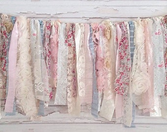 Cotton Candy Shabby Banner Garland