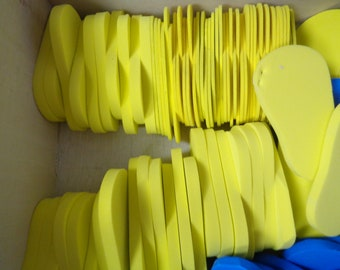 7 Pairs of Yellow- 6mm Foam Shoe Soles- for 18 inch Dolls -Makes 7 pairs of shoes for 18 inch dolls- such as the American Girl Dolls