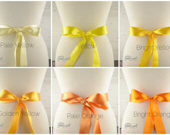 Red Sash - Orange Sash - Yellow Sash - Bridal Sash - Satin Sash - Wedding Sash - Bridesmaid Sash - Bridal Belt - Birdesmaids Belt - Sashes