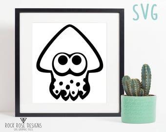 Splatoon Squid - SVG CUT FILE