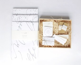 Gift Wrapping Kit: Calligraphy, Letterpress, Love Set
