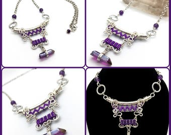 Amethyst Dreams Wire Wrapped Necklace