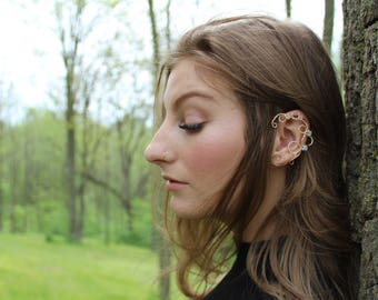 gold wire ear cuff