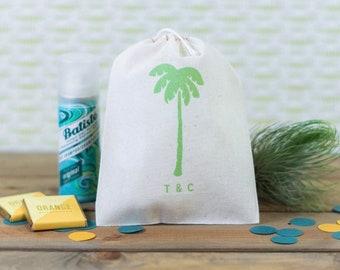 Palm Tree Wedding Favors - Beach Wedding Favor Bags - Tropical Wedding Favors - Custom Beach Wedding Favors - Palm Tree Wedding Favors