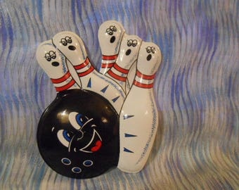Bowling Pins Cake Topper Overlay-Bakery Crafts-New-Shipping Included
