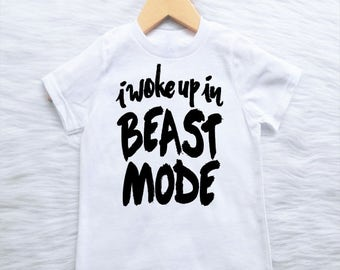 ALL SIZES Customizable Colors i woke up in beast mode funny baby bodysuit new baby arrival baby shower gift boys girls trendy edgy kids
