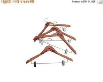 ETSY CELEBRATION SALE Personalized Engraved Hanger with Hanging Clips!Wedding gifts. Are you ready for the Wedding?