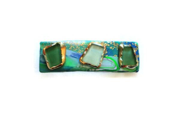 Seaglass Green Hair Barrette