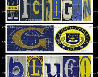 University of Michigan  Alphabet Photo Art
