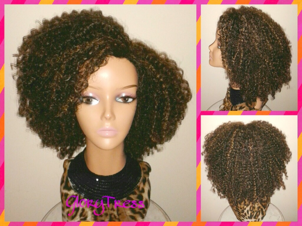 ON SALE // Kinky Curly Wig Short Curly Half Wig Big Natural