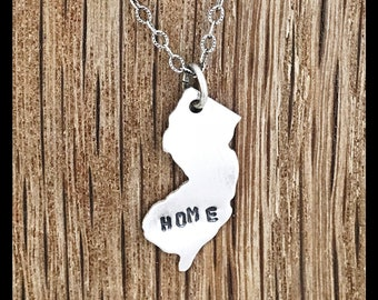 New Jersey HOME Necklace Sterling Silver