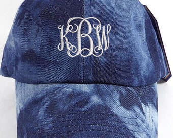 Denim Baseball Cap Monogram Gift Personalized Dad Hat  Embroidered Accessories Washed denim Cap Trucker Hat  Sports Dad Cap Hats Custom Hats