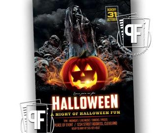 Halloween Party Invitation - Halloween Party - Halloween Invitation - Birthday Halloween Invitation - Halloween Birthday Invitation