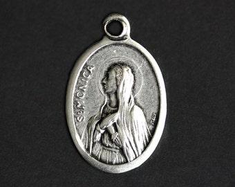 Saint Monica Medal. Catholic Pendant. St Monica Pendant. Saint Monica Charm. Catholic Saint Medal. 25mm x 16mm (Qty 1)