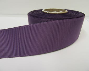 Grosgrain Ribbon 3mm, 6mm 10mm 16mm 22mm 38mm 50mm Rolls, Amethyst Dark Purple, 2, 10, 20 or 50 metres, Ribbed Double sided,