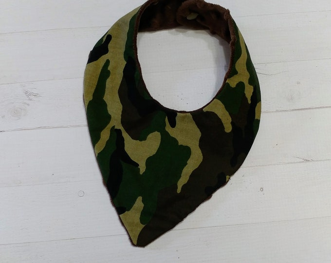 Bandana camo cloth baby bibs for boys and girls,reversible flannel baby bibs, baby gifts