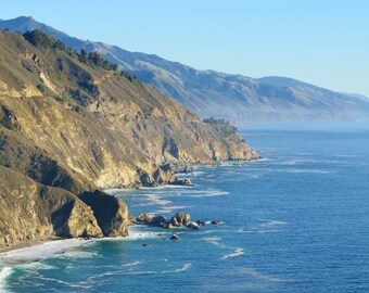 Journey Along the Rugged Big Sur Coast, California - Color Photo Poster Wall Art Image - 8x10 or 16x20