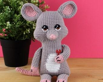 Amigurumi mouse - Matt Mouse - mouse stuffed - handmade doll - crochet stuffed