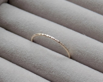 Hammered Ring | Gold Filled Ring | Midi Ring | Dainty Ring | Gold Stacking Rings Gold | Minimalist Jewellery | Delicate Ring | Gold Ring