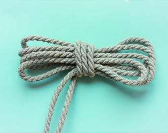 3 mm of Elegant Linen Rope Natural Color 6 Yards = 5.49 Meters Macrame Rope Kitchen Rope